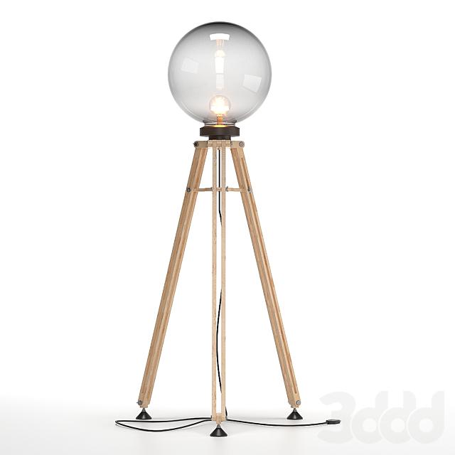 светильник шар на треноге