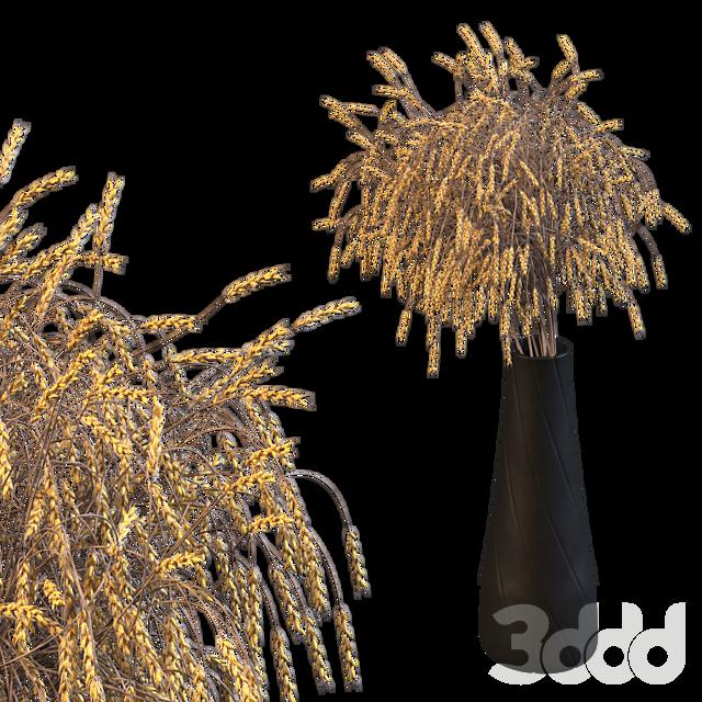 Декоративный букет из колосьев пшеницы