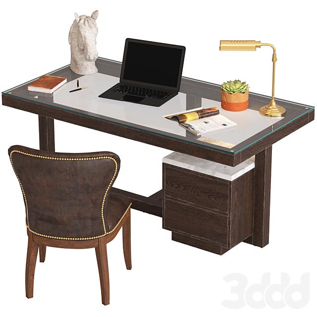 Coco Republic Toledo Desk and Richmond Chair