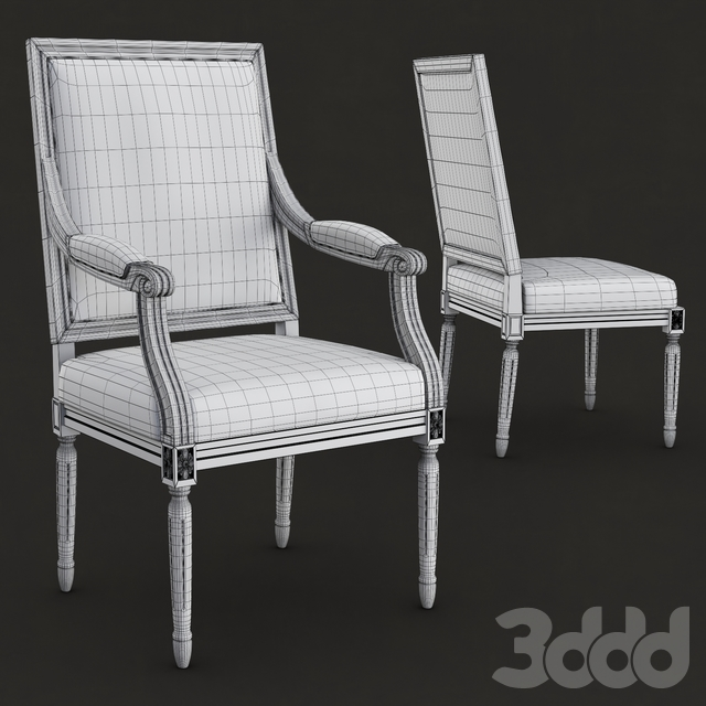 Restoration hardware - Vintage french square upholstered chairs