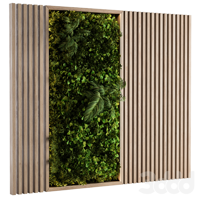 Wooden Vertical Garden - Wall Decor