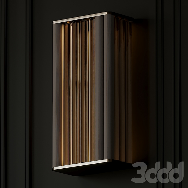 VeniceM Numa Wall Sconce in Brass and Glass by Massimo Tonetto