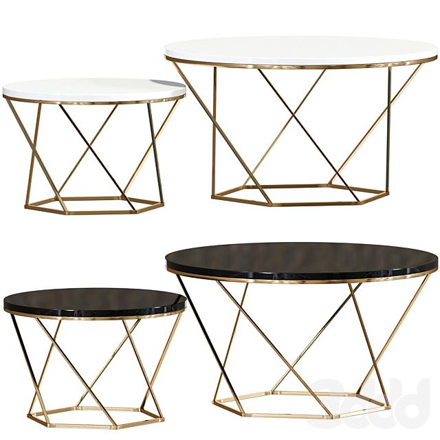 Indiskie Round Nesting Coffee Table Set