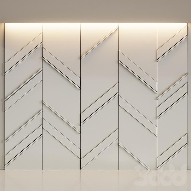 Отделка стен деревянными панелями с мрамором