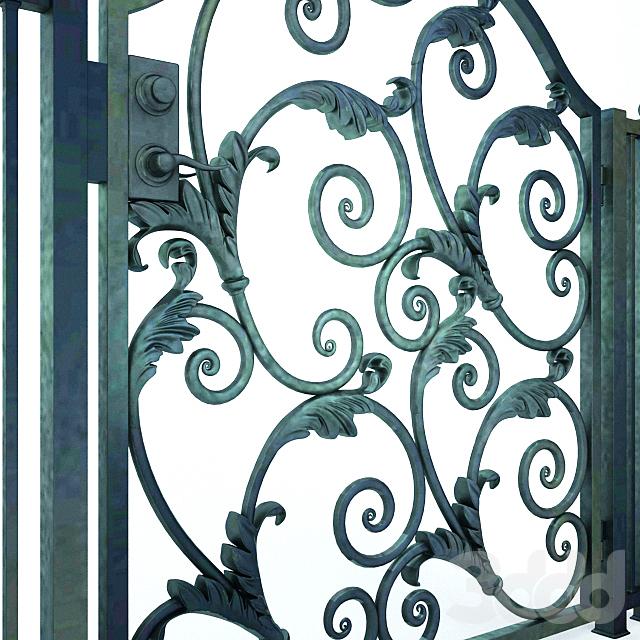 Wrought Iron Door Gate 01
