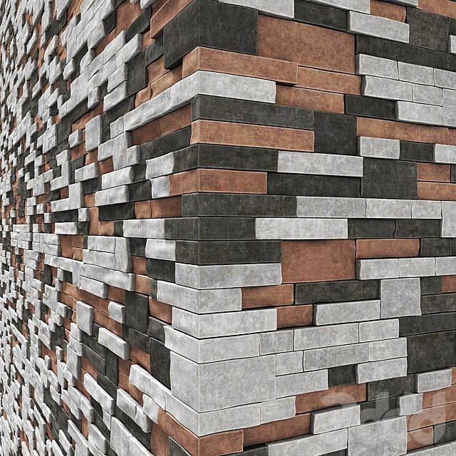 Brick clincer  decor wall many part n1