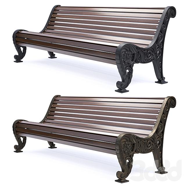 Парковая скамейка 04