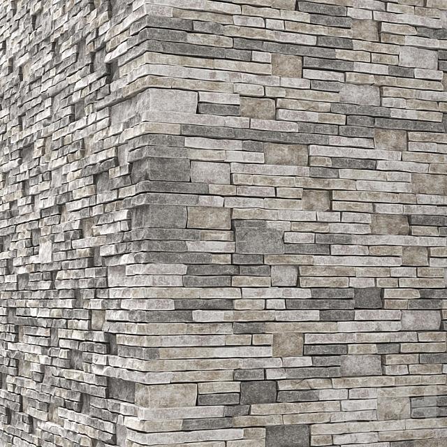 Brick stone wall granite many n3 / Стена из клинкерного гранитного кирпича