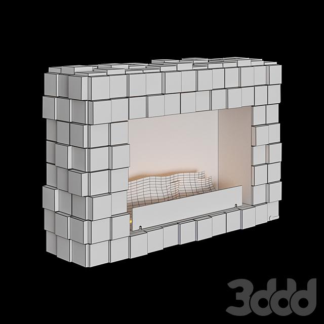 OM - Напольный биокамин Kronco Tetris