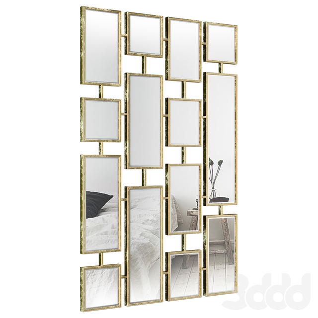 Forged Iron Rectangle Accent Mirror BYST2789