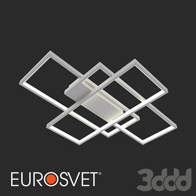 ОМ Потолочный светодиодный светильник Eurosvet 90177/3 белый Direct
