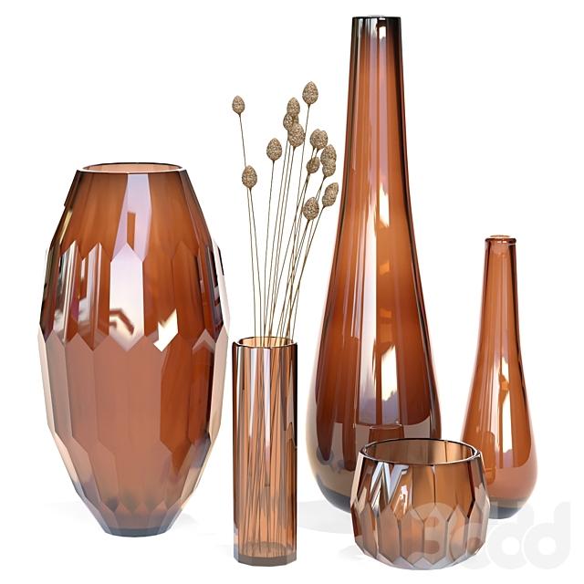 Klassik Studio Vases (Amber Set)