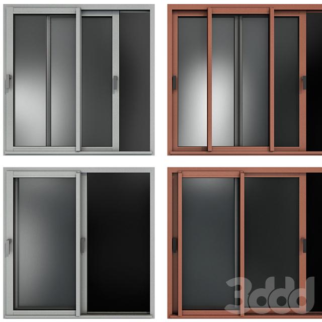 Раздвижные витражные алюминиевые окна и двери /  Sliding Stained Glass Aluminum Windows and Doors