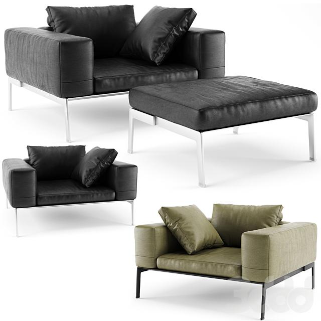 Flexform Lifesteel Armchair