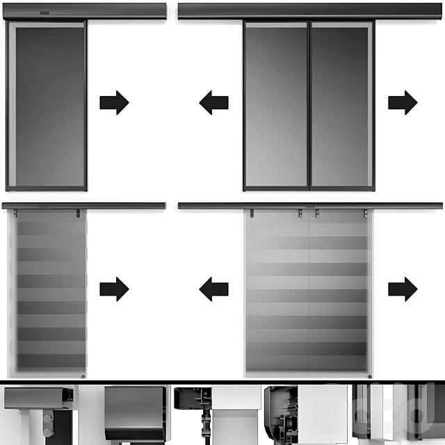 Автоматические Раздвижные Металлические  Стеклянные Двери