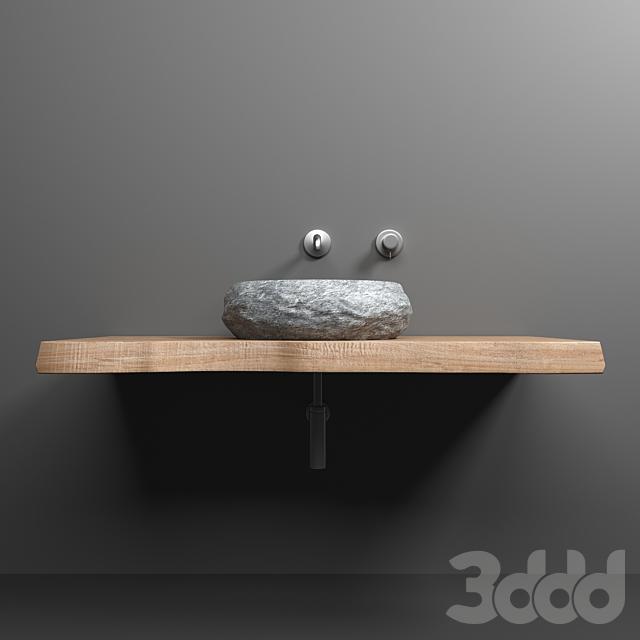 Раковина из камня