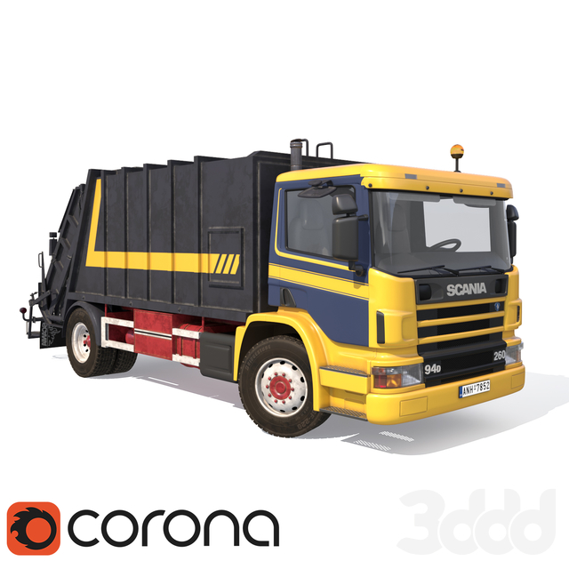 SCANIA-P94-GARBAGE-TRUCK
