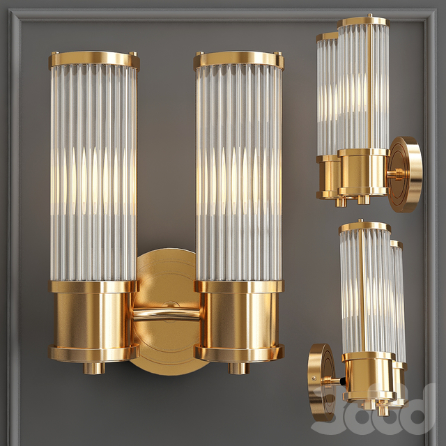 Бра Wall Lamp Claridges Dual Brass