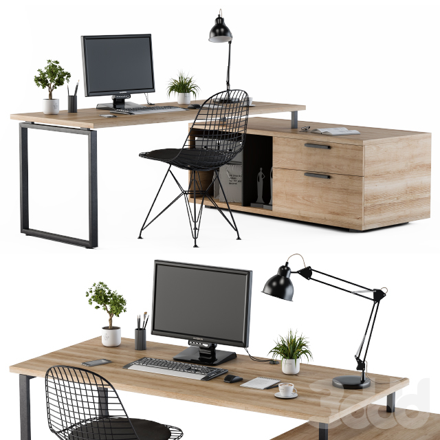 Home Office Wooden Loft style
