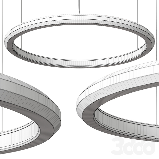 Materica Circle IN Large Concrete Halo Pendant Light
