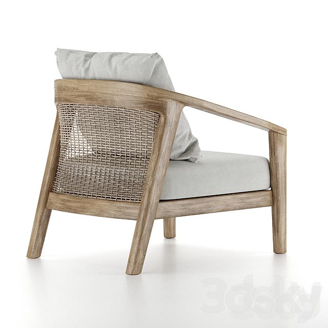 Rh - Malta Teak Lounge Chair