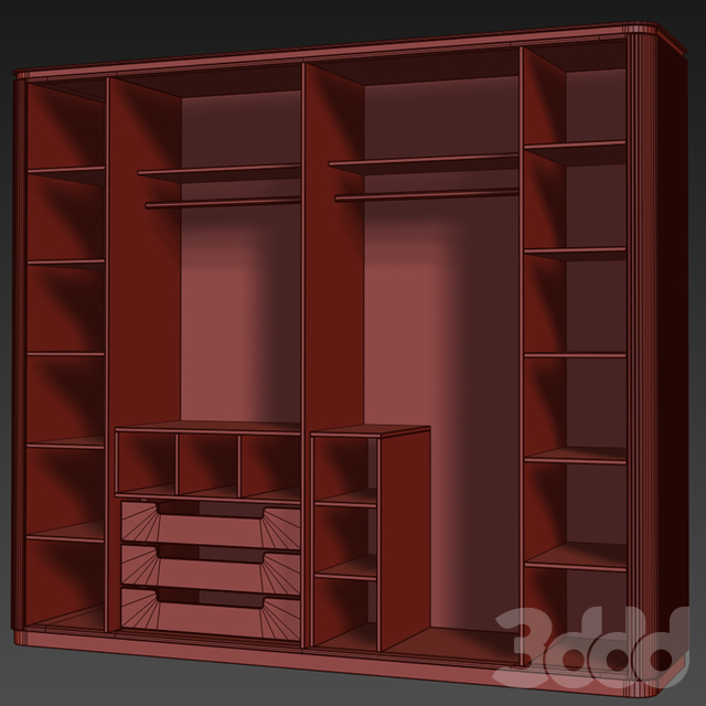 Шкаф для одежды, Ар деко Hira. Wardrobe by Medusa Home