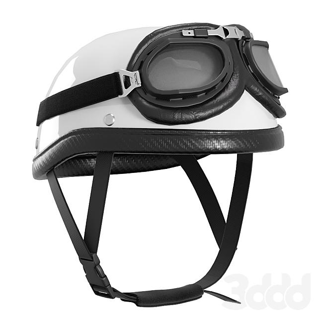 Ретро шлем мотоциклетный