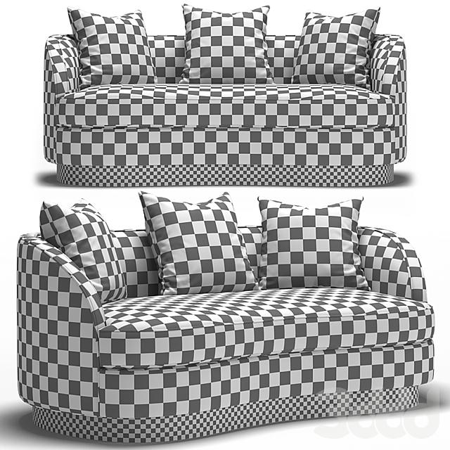 St.Tropez 2 Petite Curved Sofa