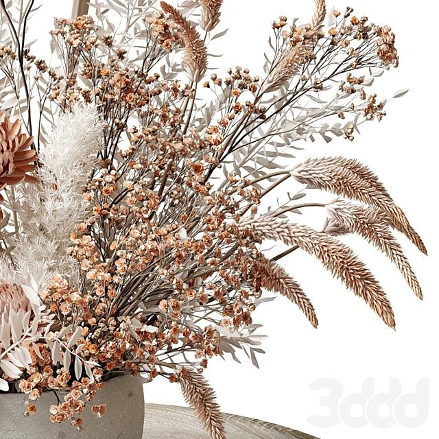 Букет из сухих цветов с хризантемами 34