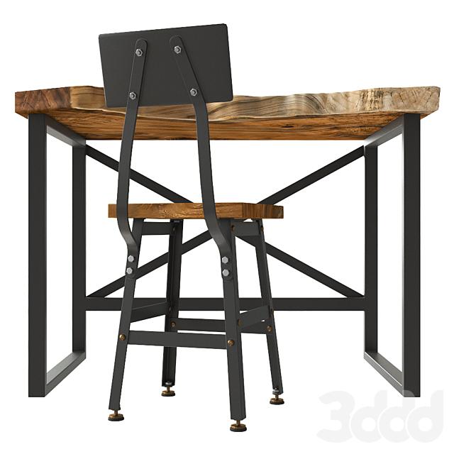 Стол и стул слэб