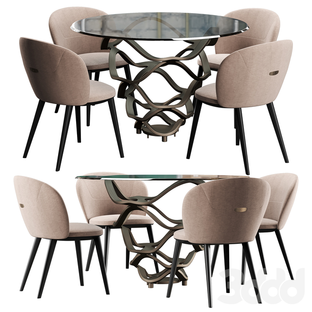 Cantory & Reflex Neolitico dining set
