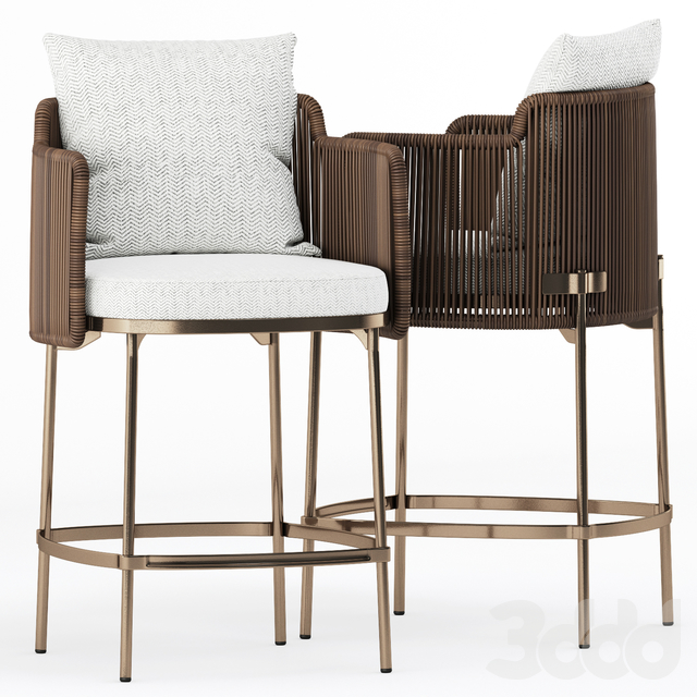 TAPE CORD OUTDOOR bar chair by Minotti
