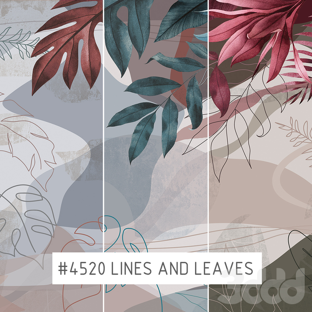 Creativille | Wallpapers | 4520 Lines and Leaves