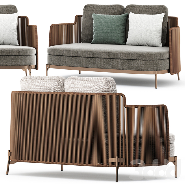 TAPE CORD OUTDOOR Garden sofa by Minotti