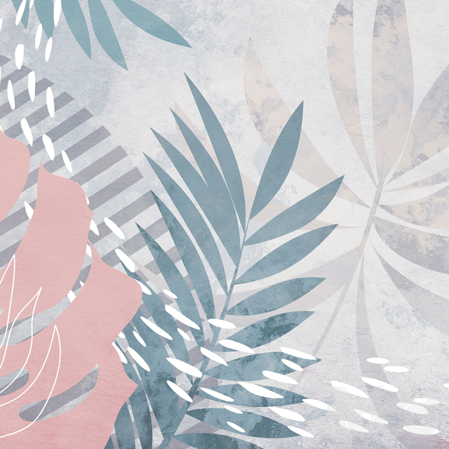 Creativille   Wallpapers   4521 Freehand Tropical Leaves