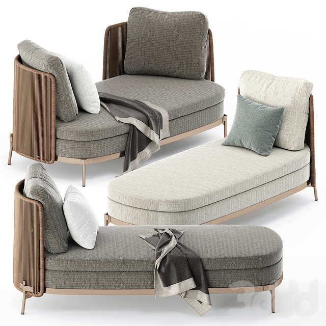 TAPE CORD OPEN SOFA and DAYBED by Minotti