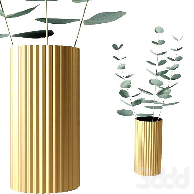Металлическая ваза Zara home
