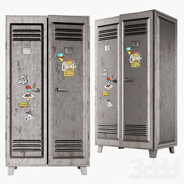 Шкаф металлический серый