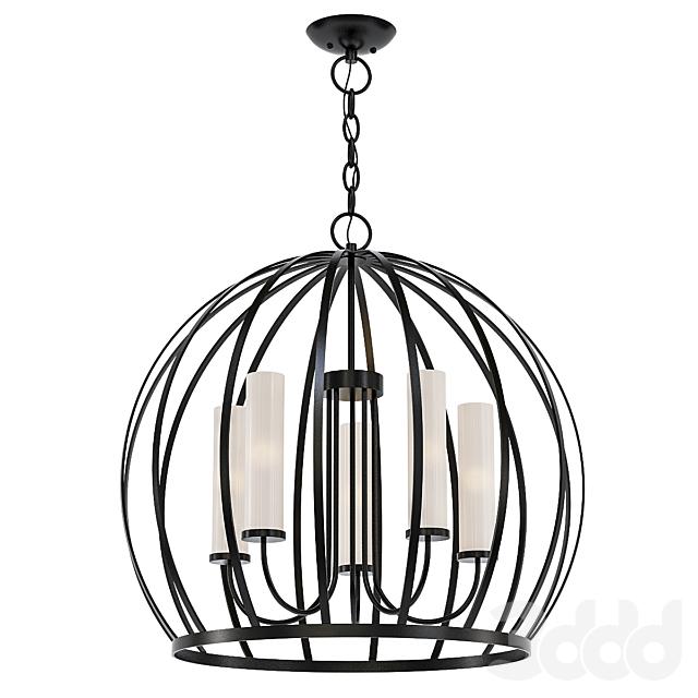 5 - Light Unique / Statement Globe Chandelier