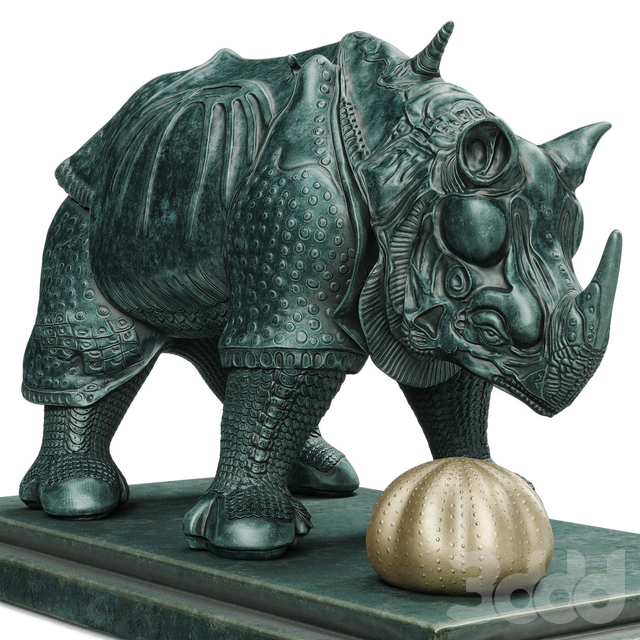 Salvador Dali Rhinoceros Habille statuette
