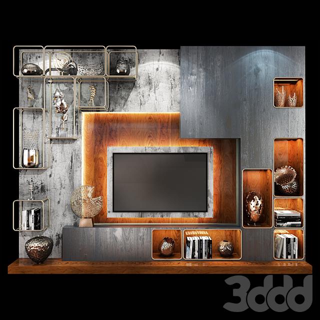 TV Wall Units set 06