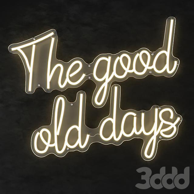 LED text the good old days eichholtz