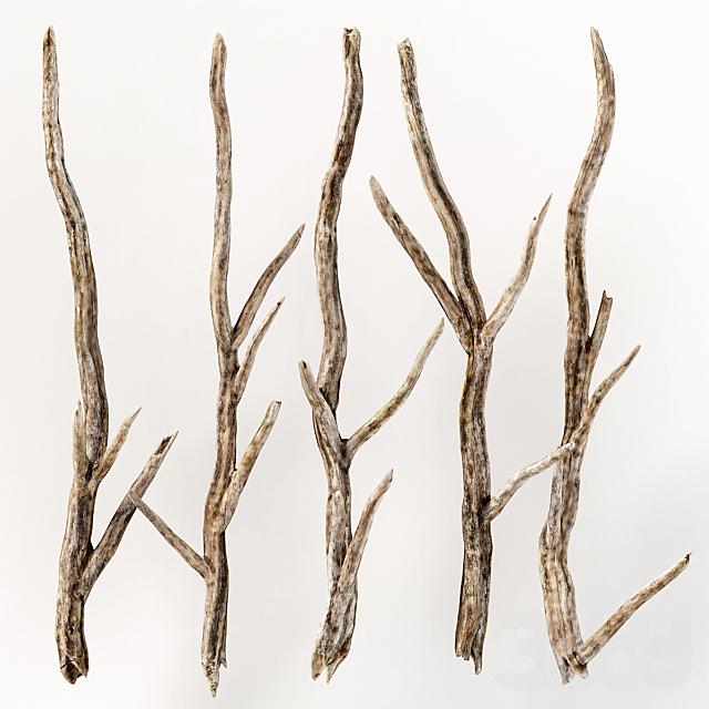 Branch crooked decoration part n1 / Ветки кривые для декорации n1