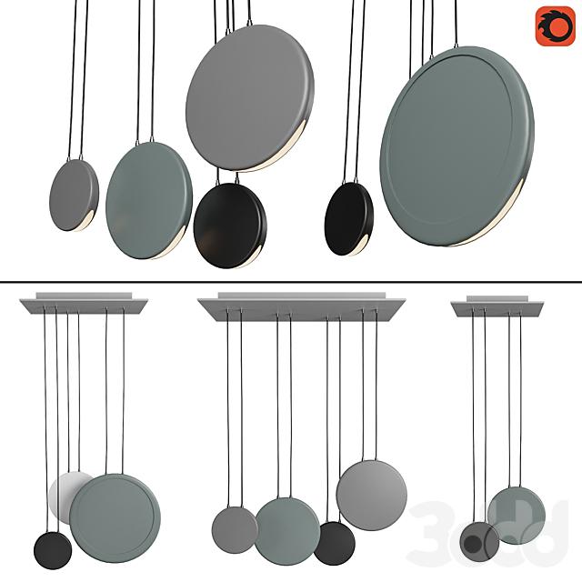 Набор подвесных светильников в скандинавском стиле_2