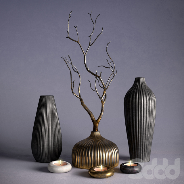 Decor – Vases and Branch