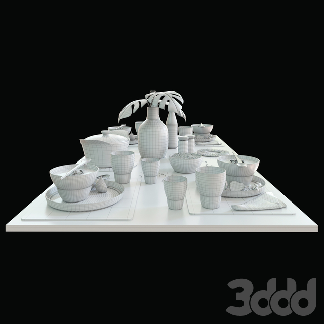 Table setting vipp dark