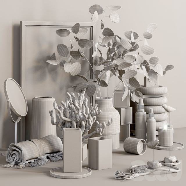 Decorative set with Lunaria