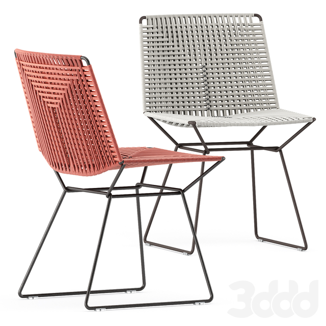 NEIL TWIST CHAIR and TENSE OUTDOOR TABLE by Mdf Italia
