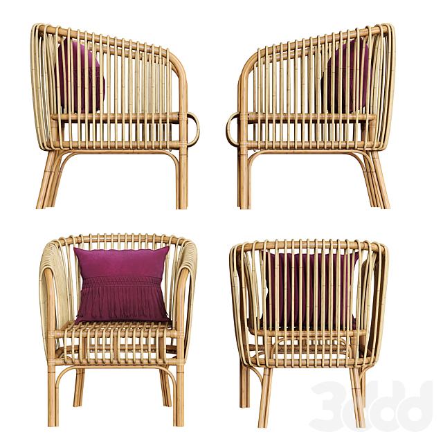 Isabella Rattan Barrel Arm Chair