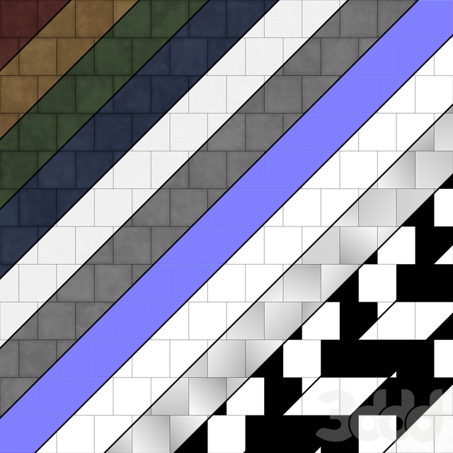 Резиновая плитка Тип 2